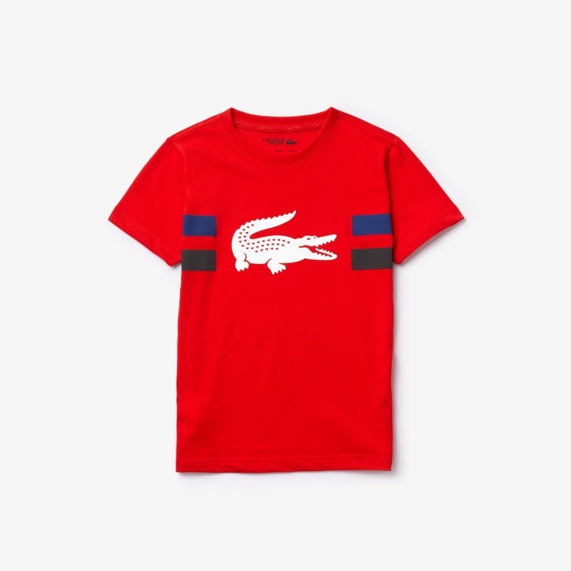 Lacoste Sport Crocodile Breathable Red kids T-Shirt TJ3297