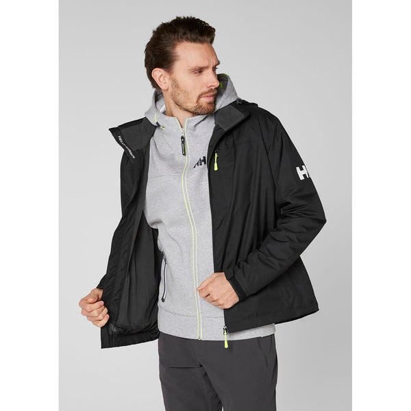 Helly Hansen Crew Hooded Midlayer Black Men  Jacket 33874 990