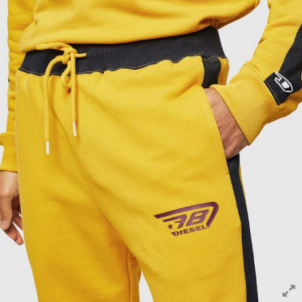 Diesel UMLB-PETER-BG TROUSERS Yellow Men Sweatpants 00SYXI0SAWA