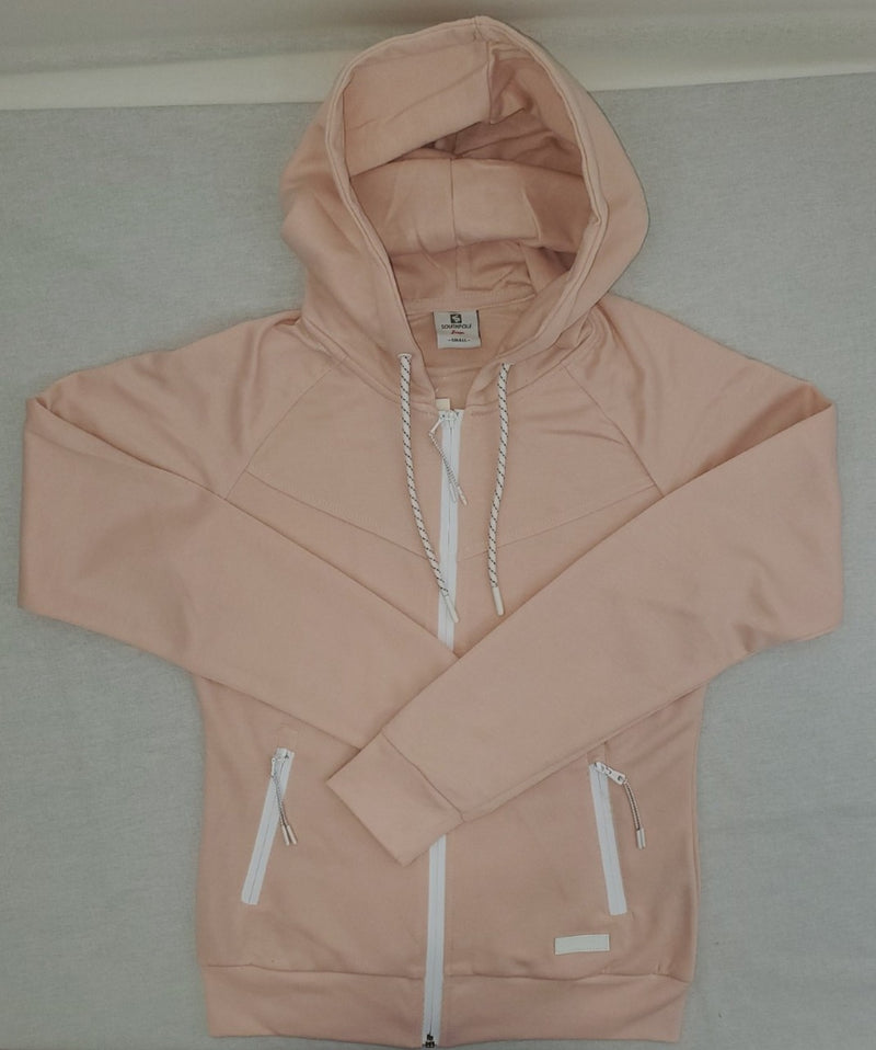 Southpole Tech Fleece Lt Pink Women Zip Up Hoodie Sweatshirt 18323-1518