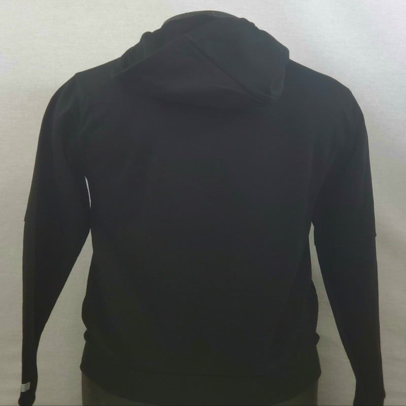 WT02 Black Men Tech Fleece Zip Up Hoodie 19391-1541