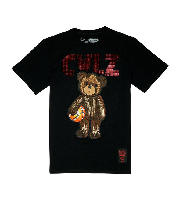 Civilized Bear Rhimstone  Black Men Tee CV2149