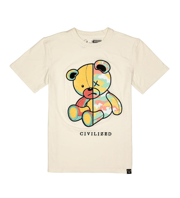 Civilized Camo Bear Natural Men Tee CV9268