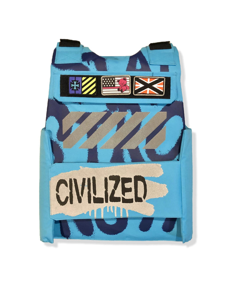 Civilized Bear Utility Aqua Men Vest CV9791