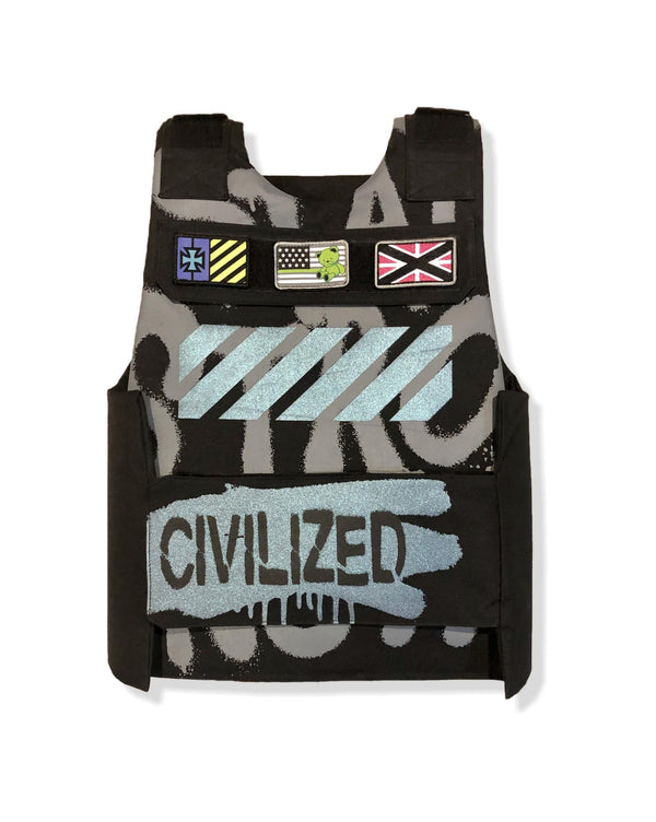 Civilized Bear Utility Black Men Vest CV9791
