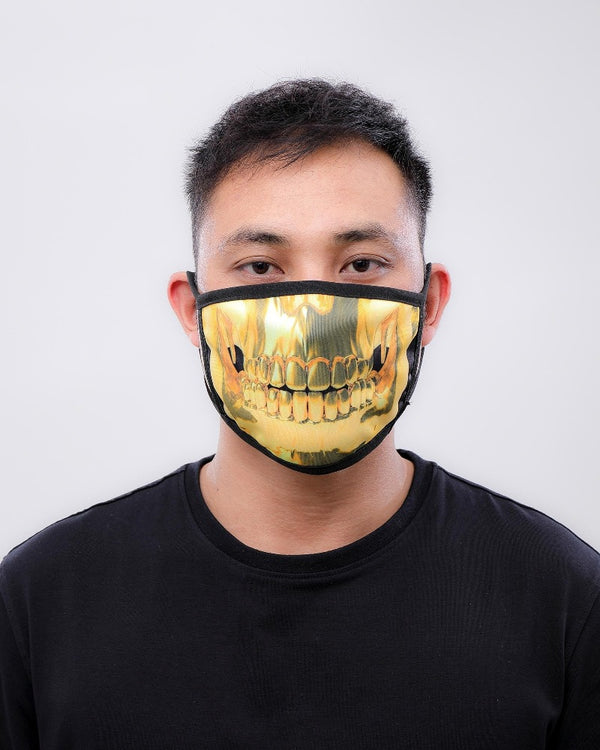 Hudson Eternity Gold Corona Face Masks E7133266