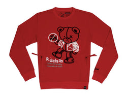Civilized Equality Bear Red Men Crewneck Sweater CV2188