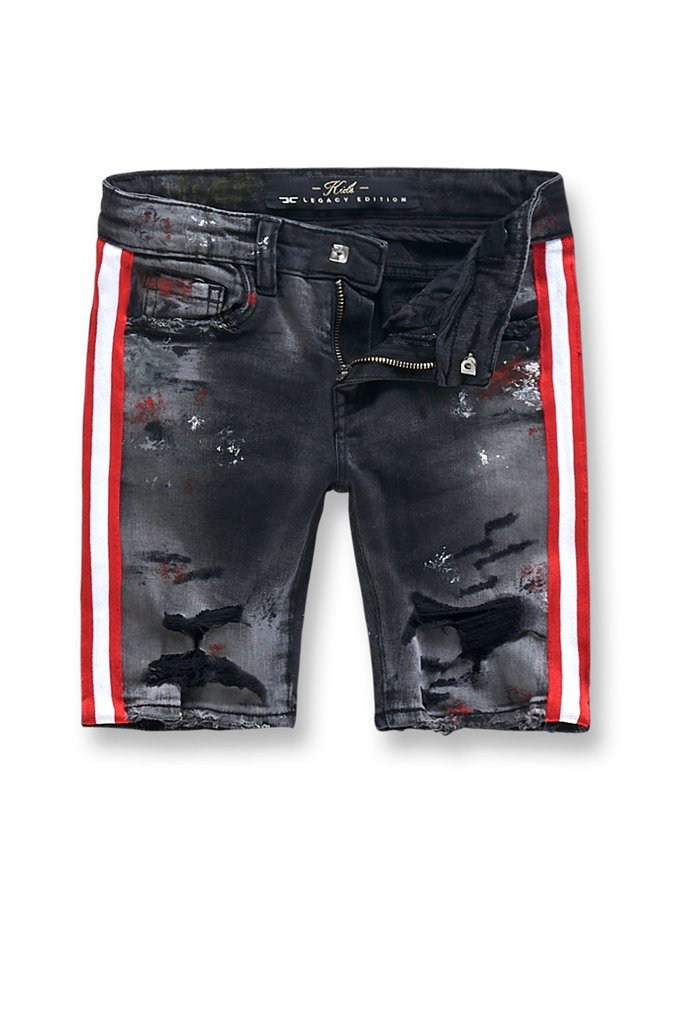 Jordan Craig Talladega Black Shadow Kids Denim Shorts J3388SK