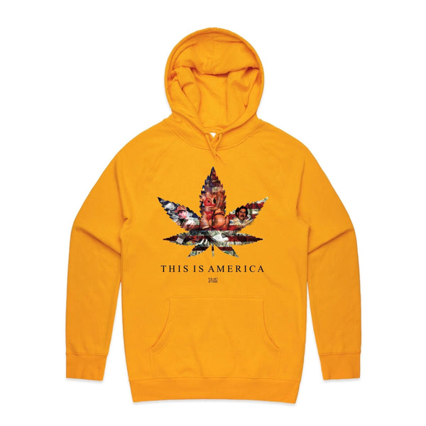 Point Blank This is America Yellow Men Hoodie 100987-1313