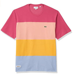 Lacoste Colourblock Striped Purpy/Holy Men Crew Neck T-shirt TH5068