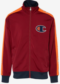 Champion TRICOT TAPING CHERRY/NAVY MEN TRACK JACKET V3377