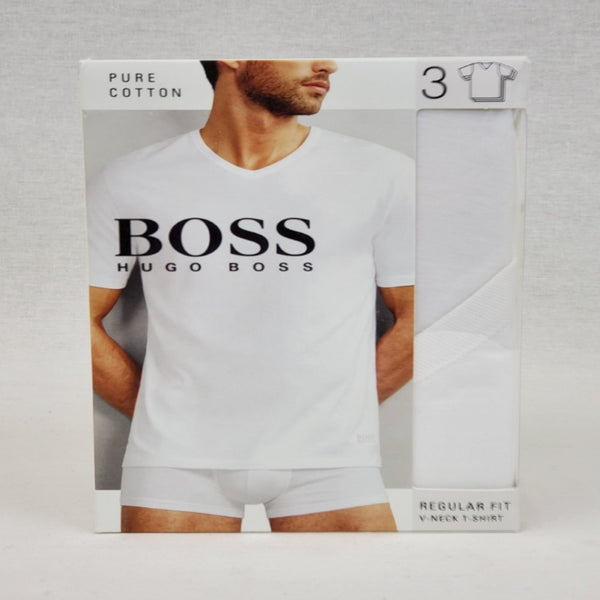 Hugo Boss White 3PACK MEN V NECK T-SHIRT 50325386