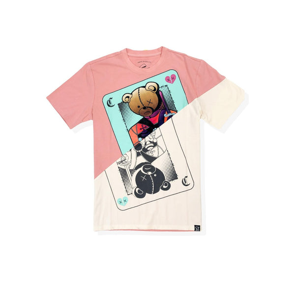 Civilized cards games pink men t-shirt CV2107