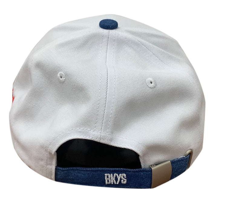 Bkys Lucky Charm White Denim Men Dad Hat BKD934