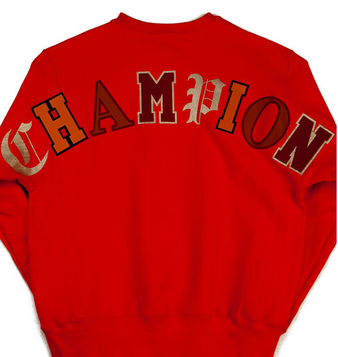 Champion REVERSE WEAVE RED MEN CREW NECK SWEATSHIRT GF70