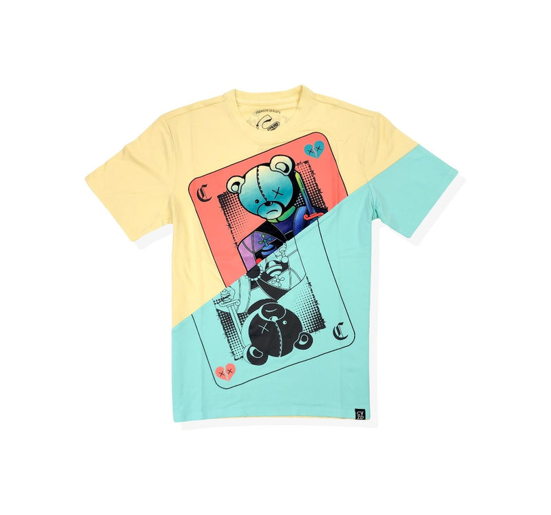 Civilized cards games bright yellow men t-shirt CV2107