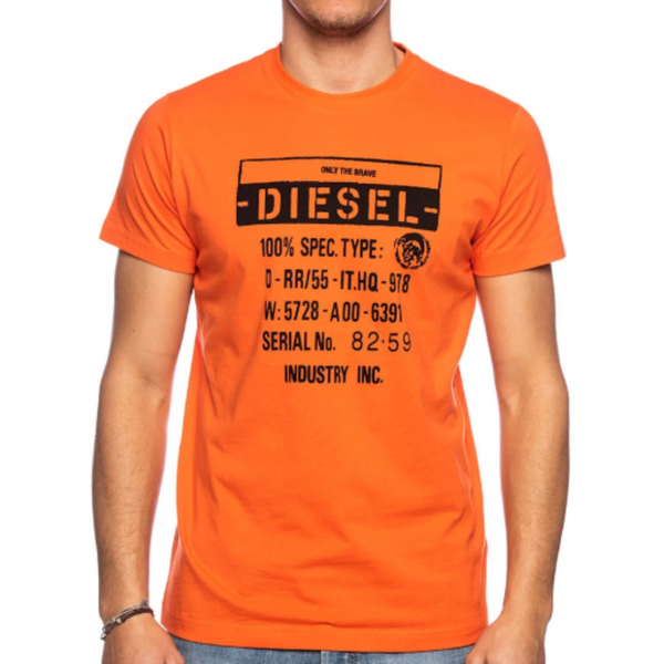 DIESEL T- DIEGO ORANGE MEN T Shirt