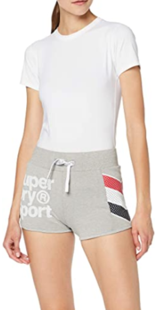 Superdry D2 Athletico Hot Grey Women Shorts GS3105RT