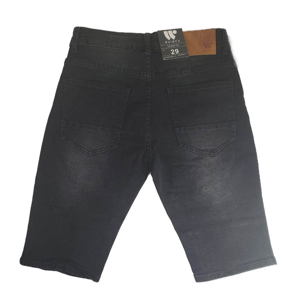Waimea fashion black men denim shorts AOM7187D