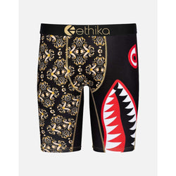 ETHIKA BOMBER GATSBY BLACK/GOLD Boxer BRIEF MEN UNDERWEAR MLUS1179
