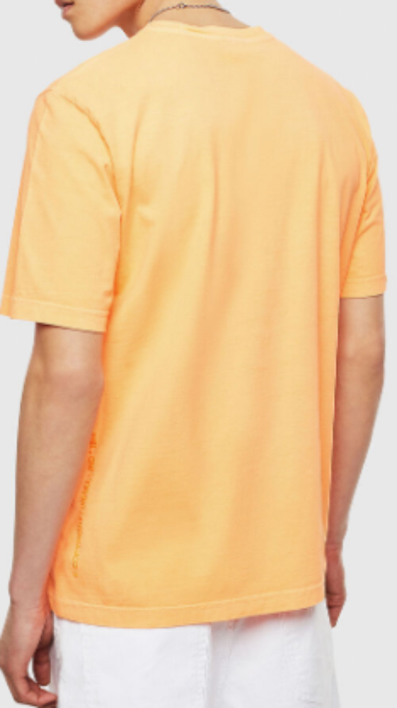 DIESEL T-JUST-NEON-S1 ORANGE Men T-SHIRT OOSGRUOCAYW