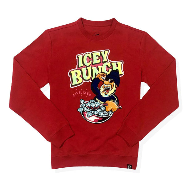 Civilized Icey Bunch Red Crew Neck Men Sweatshirt CV2071