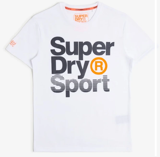 SUPERDRY WHITE CORE SPORT GRAPHIC WHITE MEN T-Shirt MS300010A