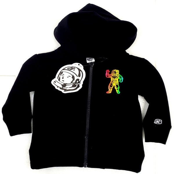 BILLIONAIRE BOYS CLUB BBC Shimmer Black Kids Zip Up HOODIE 803-1304