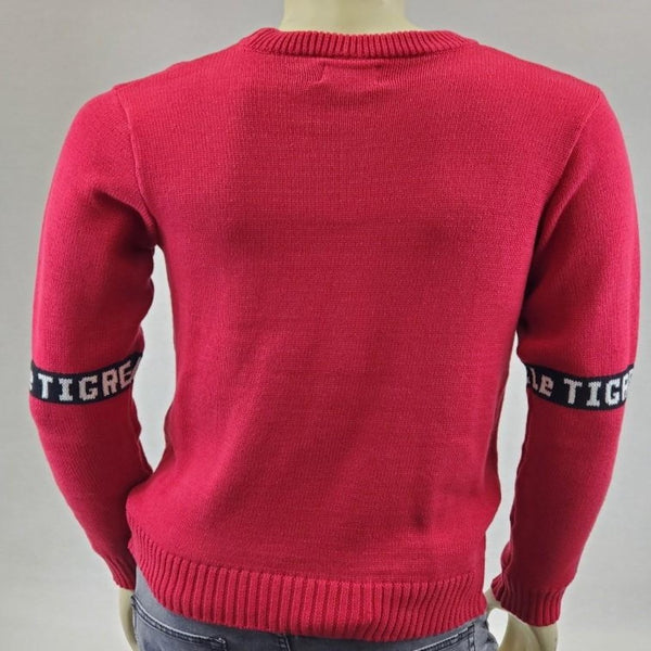 Le TIGRE RED BURGUNDY MEN CREW NECK SWEATER LT19-K209