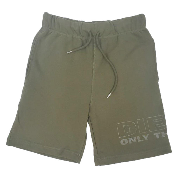 Diesel UMLB-PAN OLIVE/GREEN MEN SWEAT SHORTS 00ST2A0WARW