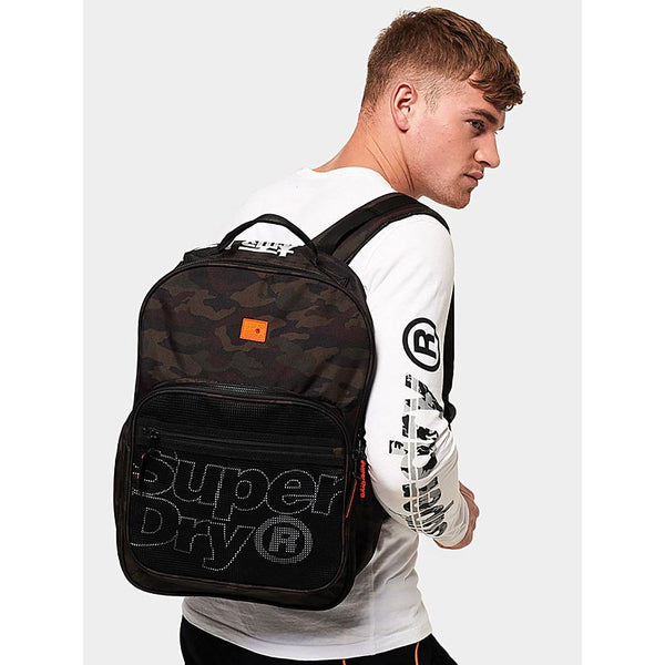 SUPERDRY Scholar RUCKSACK CAMO/BLACK BACKPACK M9100021A
