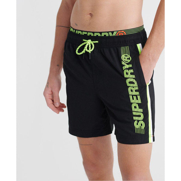 SUPERDRY State Volley Black Men Swim Short M3010010A