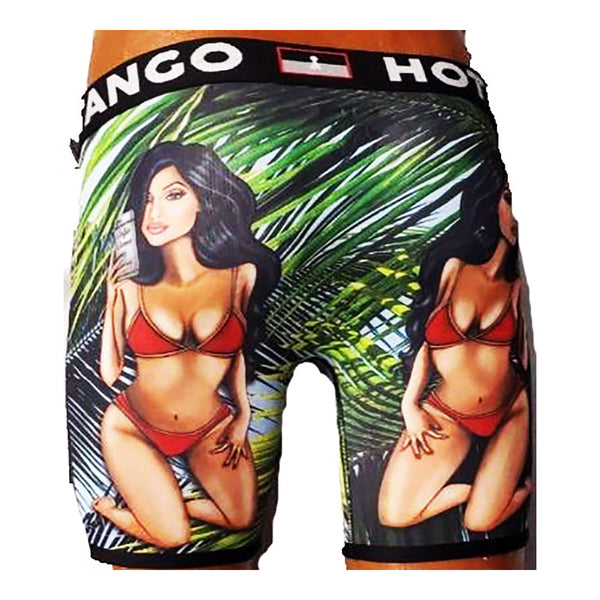 TANGO HOTEL PIN UP BLACK/GREEN BOXER BRIEF Men UNDERWEAR THB4051BB