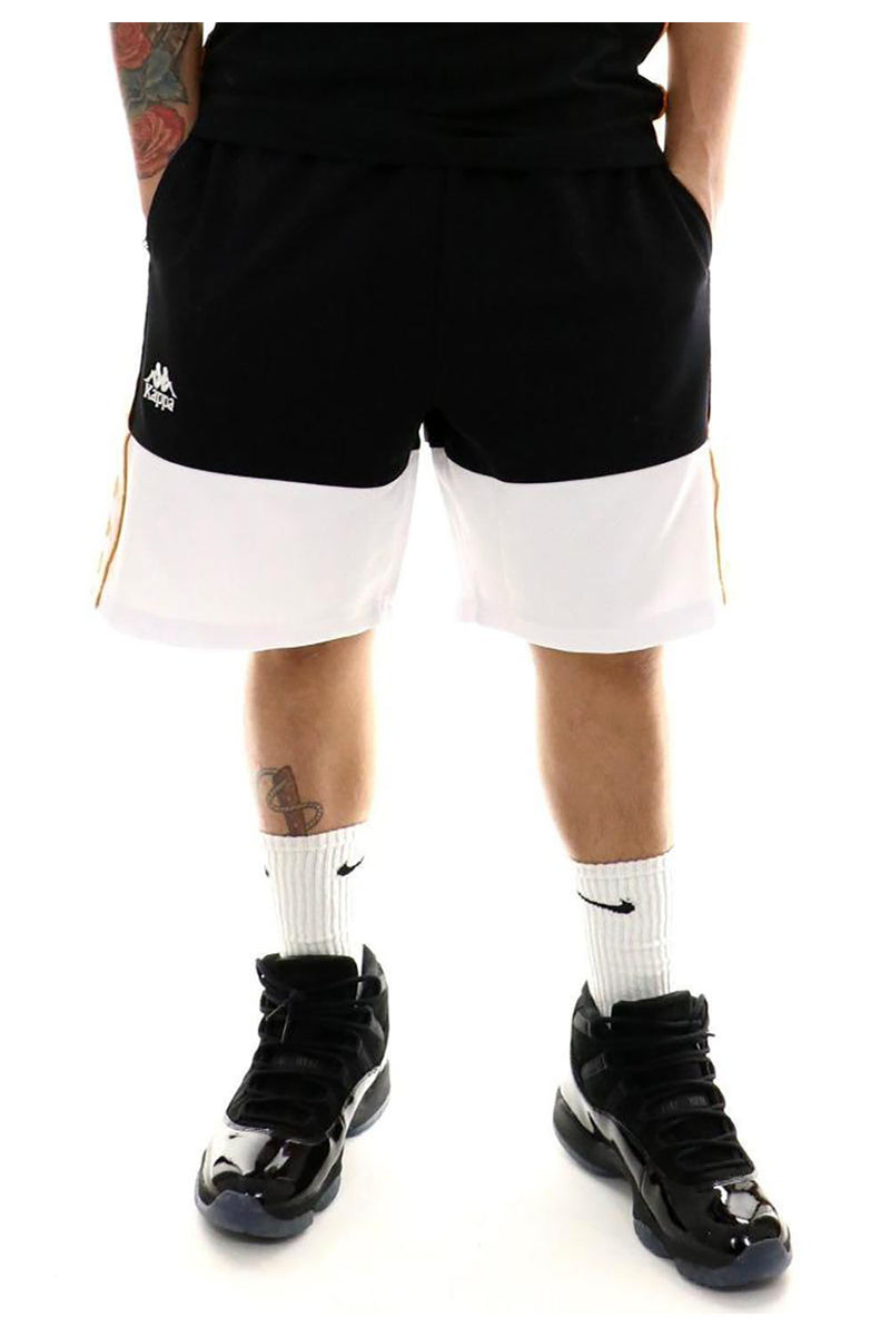 KAPPA Authentic BIPLUS BLACK/YELLOW MEN SHORT 304IEP0