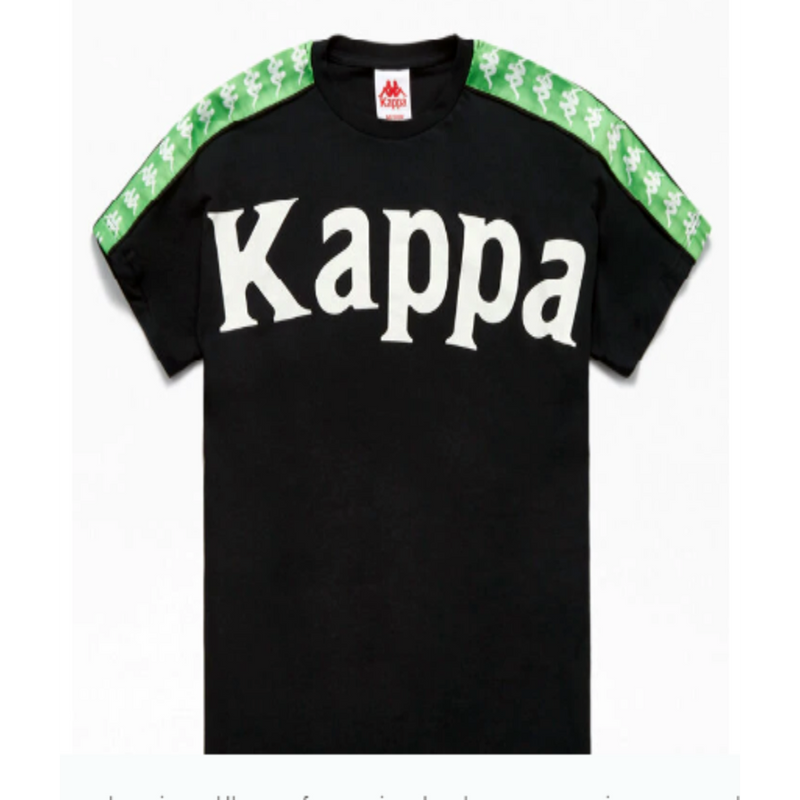 Kappa Banda Cultin Black/Green Men T-Shirt 304S7M0