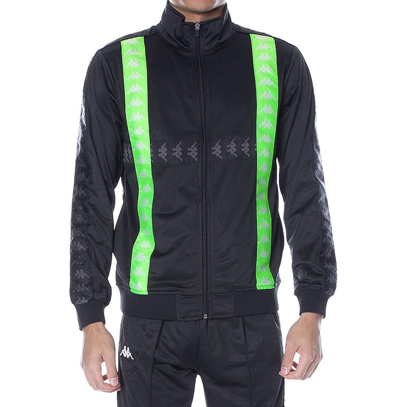 Kappa Banda Calak Black/Green Men Track Jacket 304UBU0