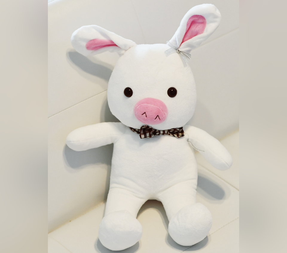 """You're Beautiful"" Pig Rabbit Plush Toy"