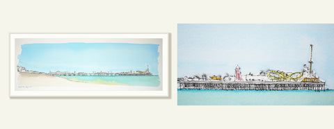 Brighton Seafront From The Palace Pier to the West Pier By Alejandro Martinez - LEOFRAMES