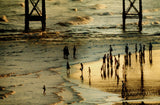 Sunset on Brighton Beach under The West Pier(PRINT) - LEOFRAMES