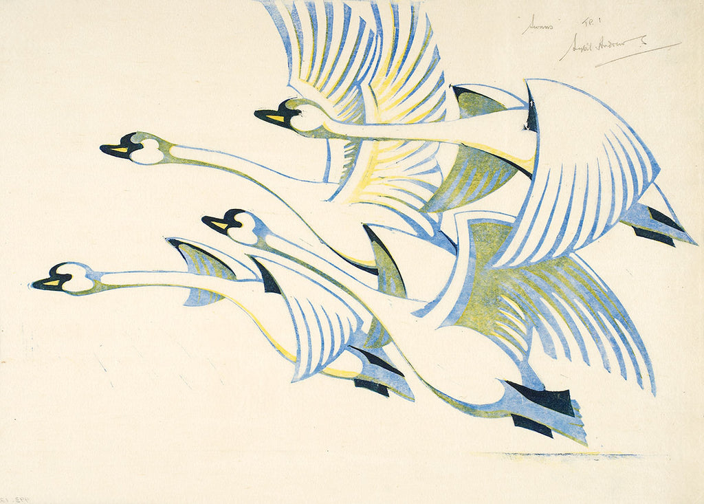 Swans By Sybil Andrews - LEOFRAMES