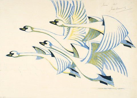 Swans By Sybil Andrews