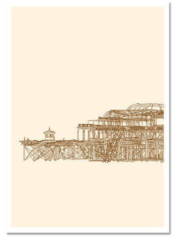Brighton,West Pier, print,art,marcus duck,