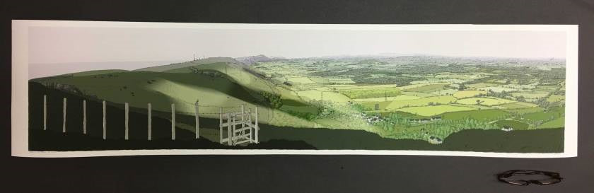 The Lark over the Sussex Weald at Devils Dyke or 'A Hike on the Downs' By Alej Ez