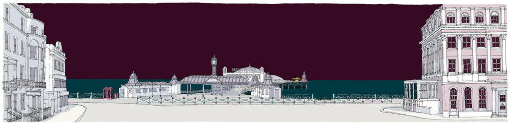 Palace Pier from Brighton Town By Alej ez