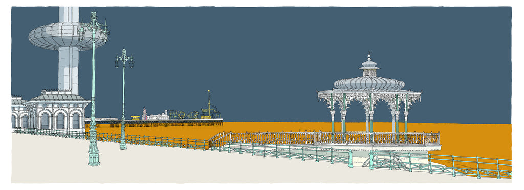 Bandstand, Palace Pier and I360 By Alej ez - LEOFRAMES