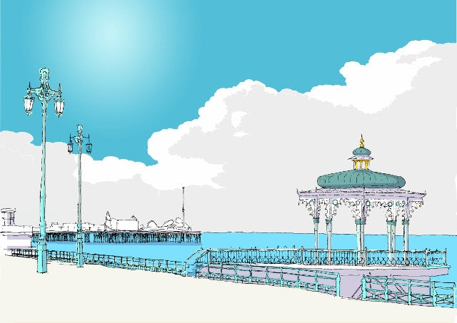 Brighton Bandstand & the Pier By Alej ez - LEOFRAMES