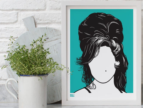 Amy Winehouse screen print By Bold & Noble - LEOFRAMES