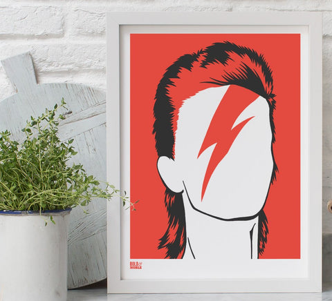 Bowie Screen Print By Bold & Noble - LEOFRAMES