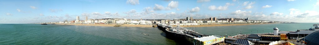 Panoramic image of Brighton taken from Bighton Pier (PRINT) - LEOFRAMES