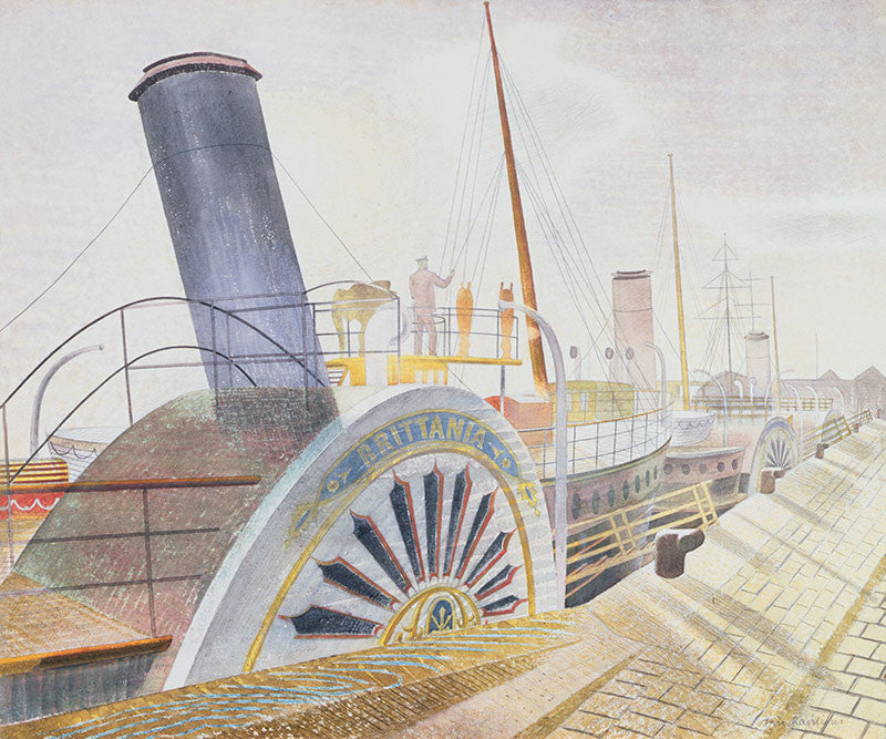 Eric Ravilious - Paddle Steamers, Bristol Quay - LEOFRAMES